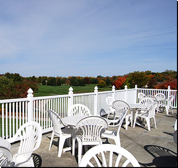 Black Squirrel Golf Club Expansive Deck